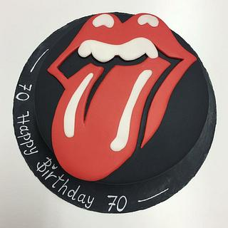 Rolling Stones Birthday cake - Cake by Agnes Linsen