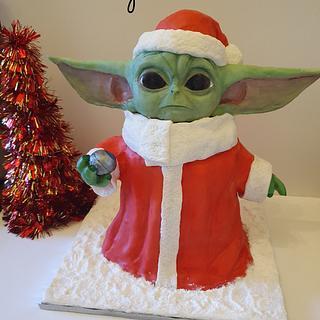 Festive Baby Yoda