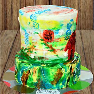 Caker buddies Collaboration- Belle Matinée - Cake by Sarika