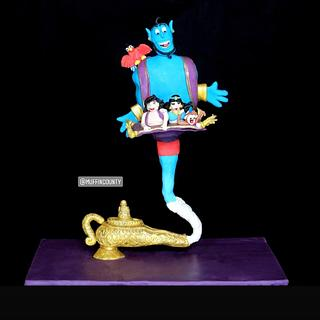 Gravity Defying cake ( Genie from Aladdin)