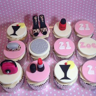 Girly themed cupcakes