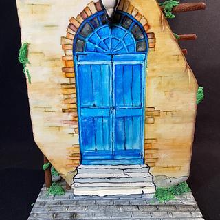 The Door- Hanpainted cake  - Cake by Cristina Arévalo- The Art Cake Experience