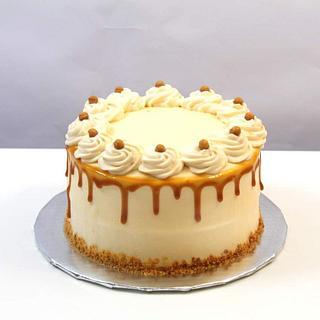 Fresh Cream Butterscotch Cake