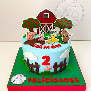TARTA GRANJA DE ANIMALES - Cake by Camelia