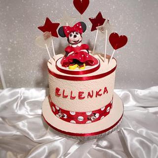 Velur Minnie Mouse Cake - Cake by SLADKOSTI S RADOSTÍ - SLADKÝ DORT