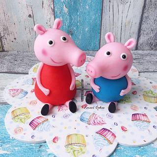 Peppa and George - Cake by Kmeci Cakes