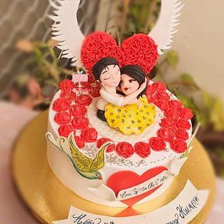 Anniversary cake - Cake by Arti trivedi