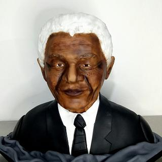 Nelson Mandela bust cake