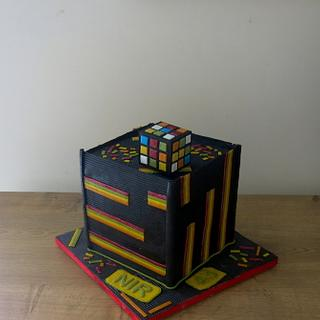 The Cube -- de and reconstructed - Cake by The Garden Baker