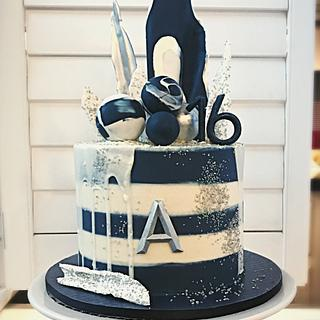 Navy Stripe by Dozycakes - Cake by Dozycakes