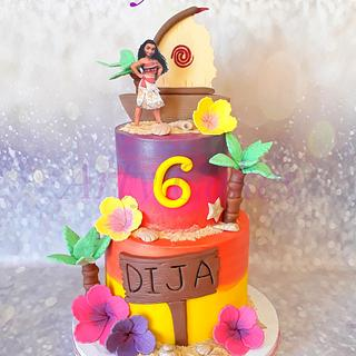 Moana cake  - Cake by Arty cakes