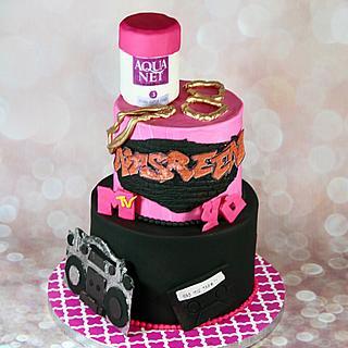 80s/90s theme cake