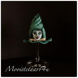 Halloween collaboration hovering witch hat...