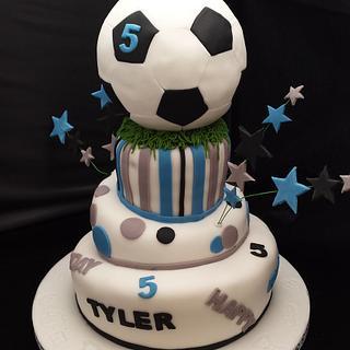 topsy turvey football cake