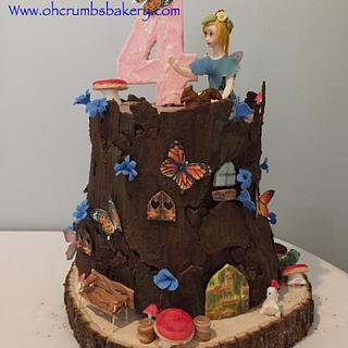 Fairy tree house cake