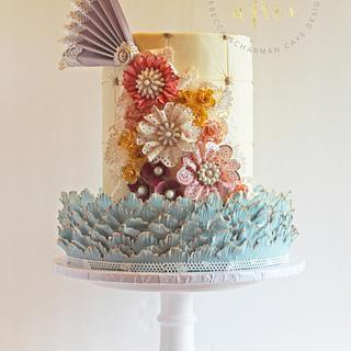 Shabby Chic Vintage Lace Cake