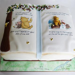 Winnie the Pooh book wedding cake - Cake by Angel Cake Design