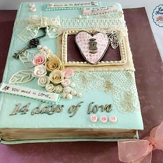 Caker buddies Valentine Collab- The book of love