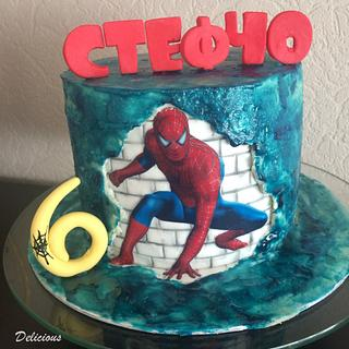 Spiderman b-day cake
