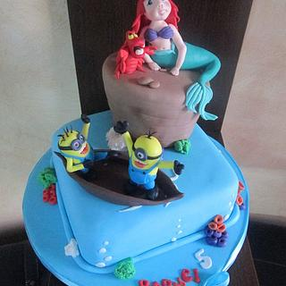 Little mermaid and the minions