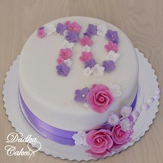 70th birthday - Cake by Dadka Cakes