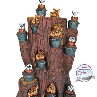 Cake International Birmingham 2016 OWL TREE - Silver Medal