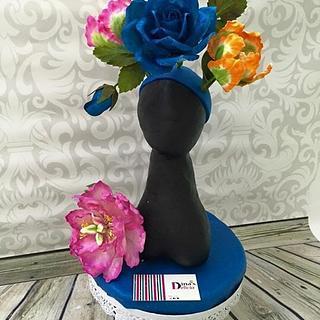 Blue flowers  - Cake by Dinadiab