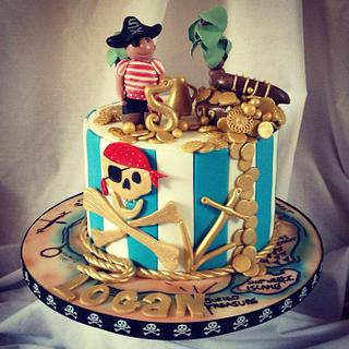 Boys Pirate themed cake