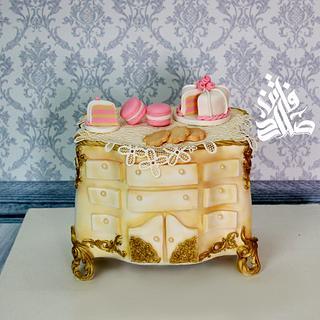 Vintage Console Cabinet cake
