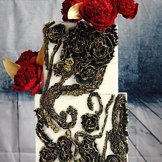 RUFFLE MELODY WEDDING CAKE