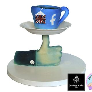 A facebook like for a British cuppa SSS collaboratio. - Cake by Zoepop