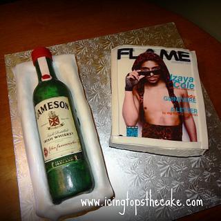 Jameson Bottle and Magazine - Cake by Icingtopsthecake