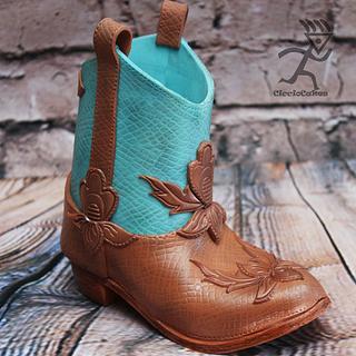 "6"" high Sugarpaste Cowboy boot topper"