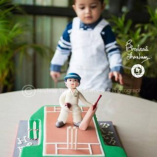 Man of the Match Cake for Ian George Jacob's First Birthday