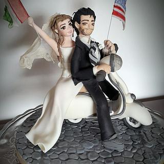 Wedding cake topper  - Cake by fiammetta