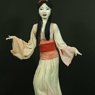 Geisha - Asian Style Figurine Cake Topper - Cake by Jennifer Holst • Sugar, Cake & Chocolate •