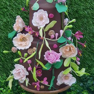 Rose Garden - Cake by azhaar