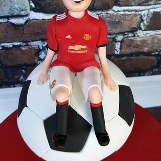 Liam - Manchester United Football Cake