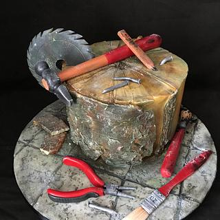 Builders cake for old builder Lamby