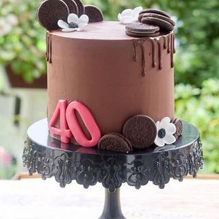 Birthday chocolate drip cake