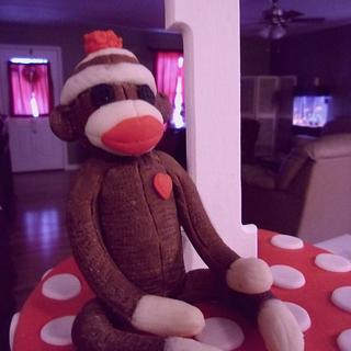 Modeling Chocolate Sock Monkey
