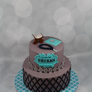 Grey and Navy cake