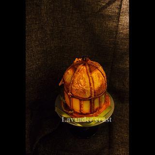 Antique Gold Birgcage - Cake by Lavender crust