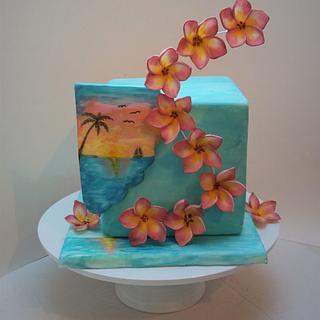 Plumeria summer cake