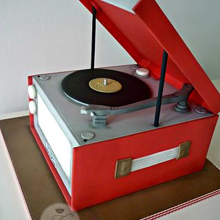 Dansette Record Player Birthday Cake