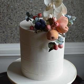 Apricots and Cherries - Cake by Elisabeth Palatiello