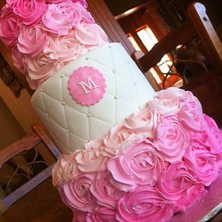 Pink Ombre Bridal Shower Cake