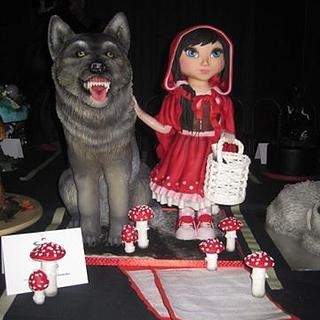 3D Little Red Riding Hood with Wolf