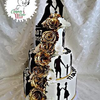 Life story wedding cake