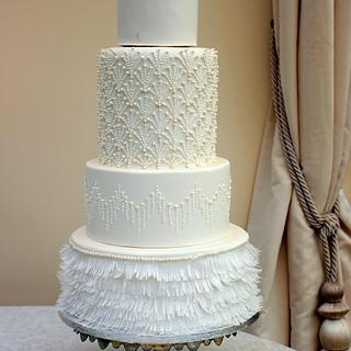 Flapper wedding dress cake